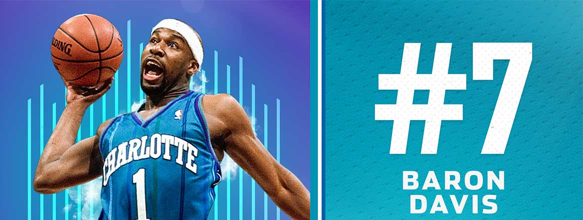 Davis Named 7th on Hornets 30th Anniversary Team